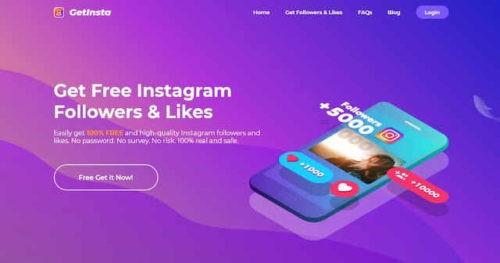 GetInsta Come ottenere follower Instagram