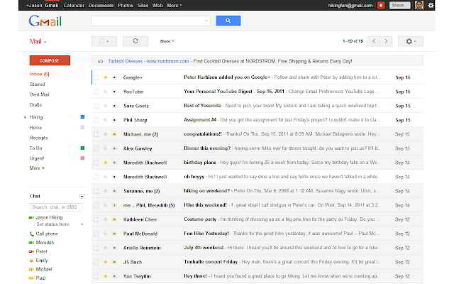 Gmail sidebar come si pulisce dalle info indesiderate