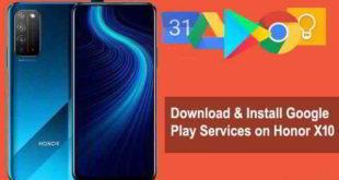Google Play Service scarica e installa su Honor X10
