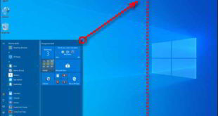 ridimensionare menu Start Windows 10