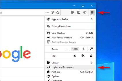 Come visualizzare le password salvate su Firefox