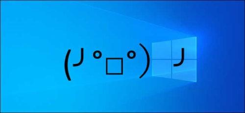 Kaomoji su Whatsapp e Windows 10 ╯ ° □ ° ╯ ┻━┻