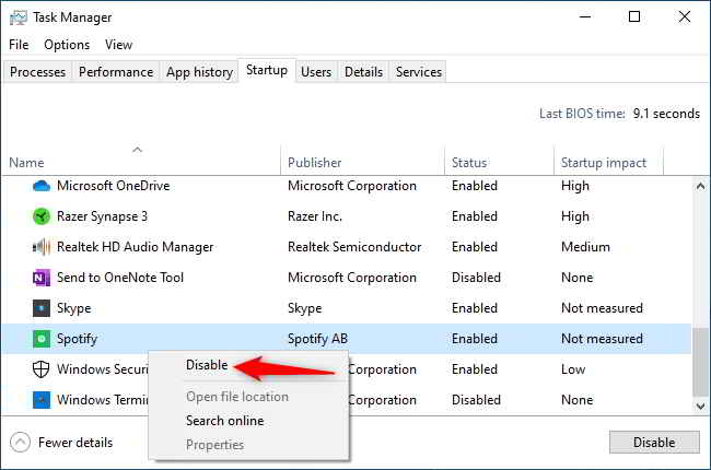 Spotify Premium su Windows 10 Come si interrompere l'avvio automatico