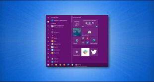 Windows 10 scegliere un colore personalizzato per il menu Start