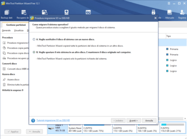 Migrazione windows 10 su SSD