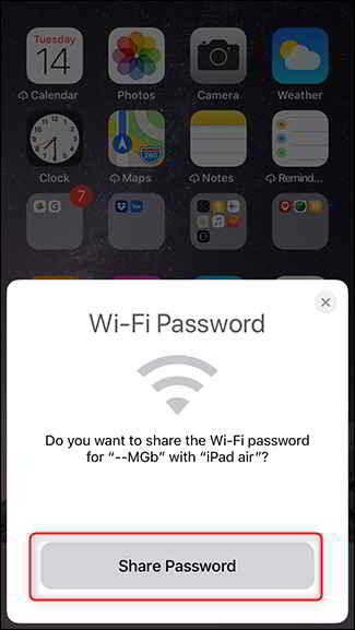 Come condividere la tua password WiFi tra iPhone