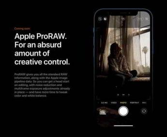 ProRaw iPhone 12 Pro come funziona