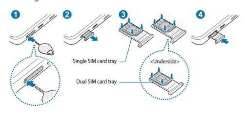 Samsung Galaxy S21 come inserire SIM nel telefono