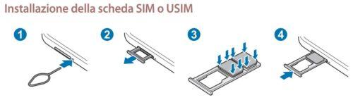 Samsung Galaxy M12 come inserire scheda SIM nel telefono