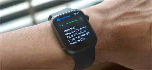 Come aumentare dimensione del carattere su Apple Watch
